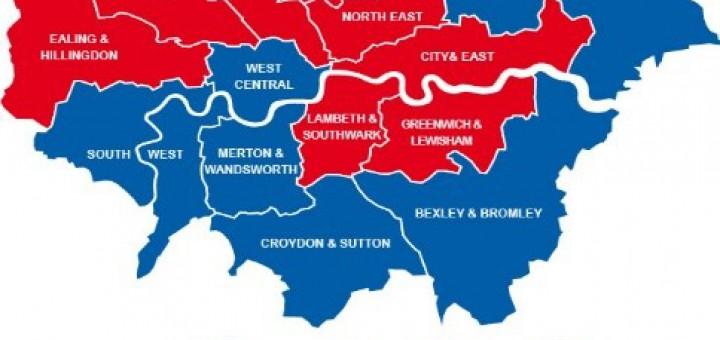 London Assembly constituency map